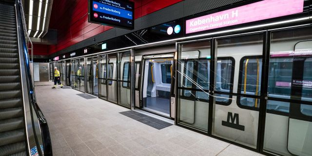 Nybyggda tunnelbanestationen København H/Arkivbild.  Johan Nilsson/TT / TT NYHETSBYRÅN