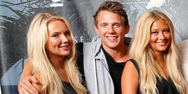 Årets deltagare Ylva Fogel, Kristian Täljeblad och Saga Scott. FREDRIK PERSSON / TT / TT NYHETSBYRÅN