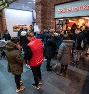 Köande resenärer i Skåne. Johan Nilsson/TT / TT NYHETSBYRÅN