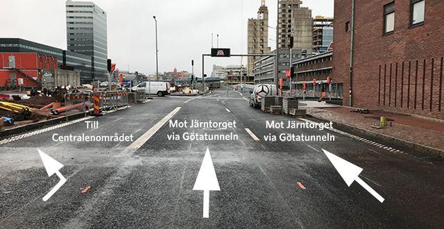 Trafikverkets informationsbild som har delats på myndighetens hemsida. Trafikverket.