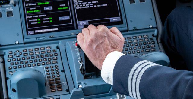SAS-pilot gasar. Illustrationsbild. Johan Nilsson/TT / TT NYHETSBYRÅN