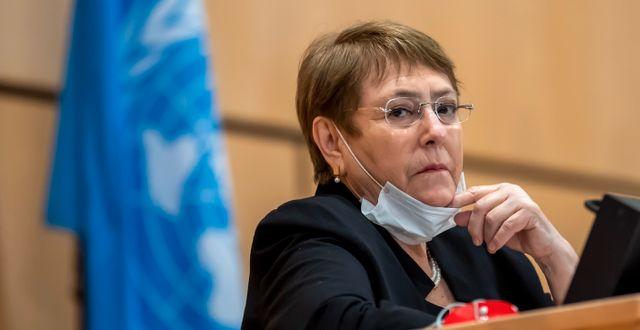 Michelle Bachelet. Martial Trezzini / TT NYHETSBYRÅN