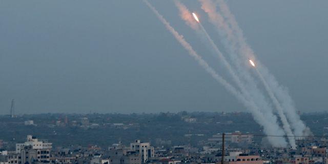 Skjutning från Israel mot Gaza. Arkivbild. MOHAMMED SALEM / TT NYHETSBYRÅN