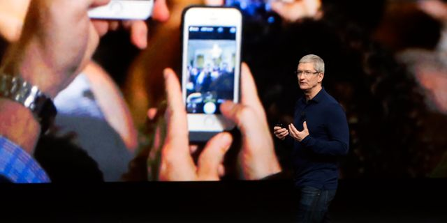 Apples vd Tim Cook. Marcio Jose Sanchez / TT / NTB Scanpix