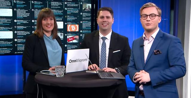 Sandra Johansson, Nicklas Andersson och Albin Kjellberg. Skärmdump