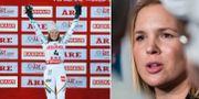 Anna Swenn-Larsson och Anja Pärson.  Bildbyrån.