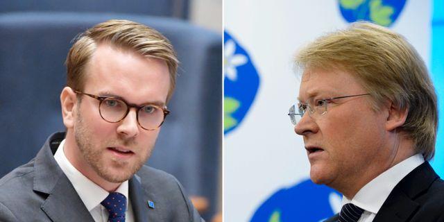 KD:s Andreas Carlson och Lars Adaktusson. TT