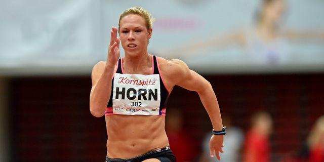 Carina Horn i ett löpsteg FLORIAN ERTL / BILDBYRÅN