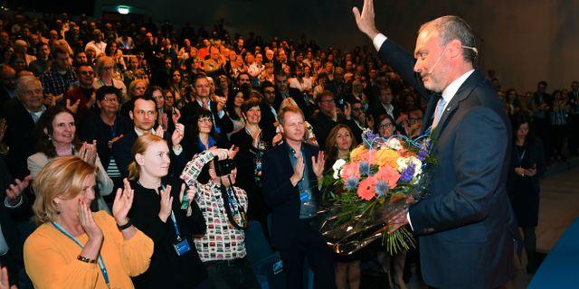 Liberalerna väljer ny ledare i slutet på juni. Bild från partiets riksmöte i april 2018.  Fredrik Sandberg/TT / TT NYHETSBYRÅN