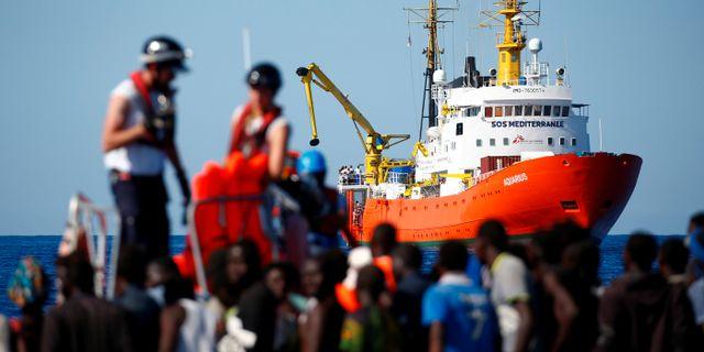 Räddningsfartyget Aquarius. Tony Gentile / TT NYHETSBYRÅN