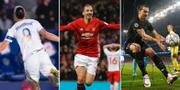 Zlatan Ibrahimovic i LA Galaxy, Manchester United och PSG. TT