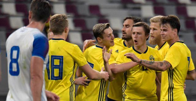 Simon Thern gjorde 2–1-målet. Janerik Henriksson/TT / TT NYHETSBYRÅN
