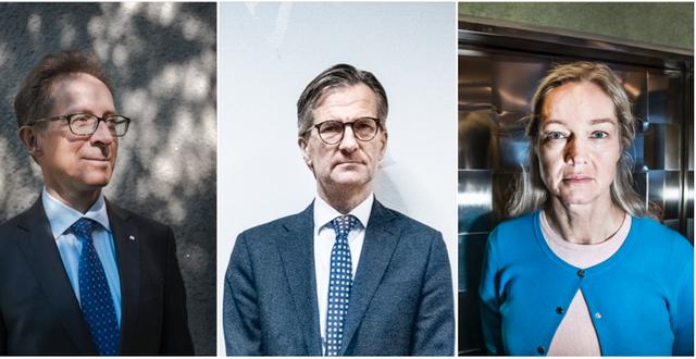Hans Lindblad, Riksgälden, Erik Thedéen, Finansinspektionen och Cecilia Skingsley, Riskbanken, medverkade på mötet. TT