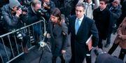 Michael Cohen och hans familj anländer till domstolen Craig Ruttle / TT NYHETSBYRÅN