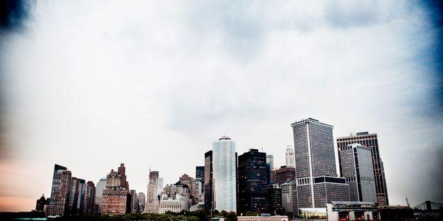 Wall Street fotograferat från färjan till Staten Island. Axel Öberg / SvD / TT / TT NYHETSBYRÅN
