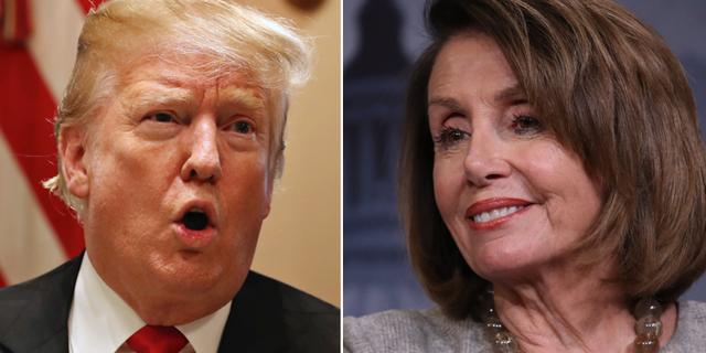 Donald Trump och Nancy Pelosi TT