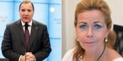 Stefan Löfven (S) och Cecilia Wikström (L) TT