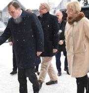 Stefan Löfven (S), Peter Hultqvist (S), Margot Wallström (S) och Morgan Johansson (S) anländer till Folk och Försvars konferens 2018. Henrik Montgomery/TT / TT NYHETSBYRÅN
