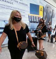 Resenärer anländer till Heathrow. Yui Mok / TT NYHETSBYRÅN