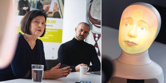 Rekryteringsfirman TNG har tillsammans med Furhat Robotics utvecklat en robot som ska användas vid rekrytering. Naina Helén Jåma/TT / TT NYHETSBYRÅN
