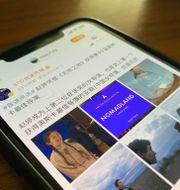 Bild på inlägg om Chloé Zhaos vinst.  Ng Han Guan / TT NYHETSBYRÅN