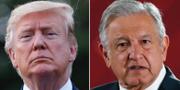 Donald Trump och Andrés Manuel López Obrador. TT