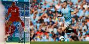 Liverpools Georginio Wijnaldum och Citys Phil Foden under veckans matcher.