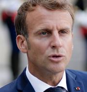 Emmanuel Macron/tyskt evakueringsplan.  TT.