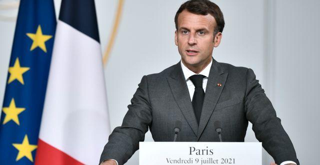 Frankrikes president Emmanuel Macron.  Stephane de Sakutin / TT NYHETSBYRÅN