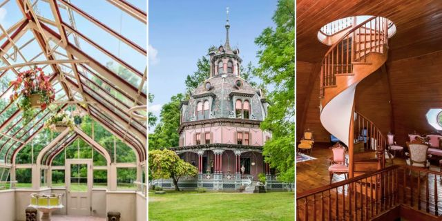 Årets häftigaste boende är ett viktorianskt dockhus i Westchester, New York, norr om Manhattan. Homes.com