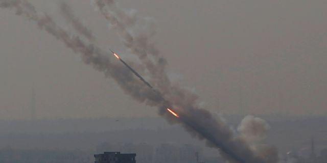 Raketer mot Israel, 12 november.  Hatem Moussa / TT NYHETSBYRÅN