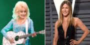 Dolly Parton och Jennifer Aniston. TT.