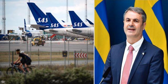 Näringsminister Ibrahim Baylan. Jonas Ekströmer/TT / TT NYHETSBYRÅN