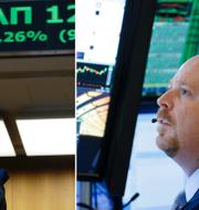 Atenbörsen och Wall Street. TT