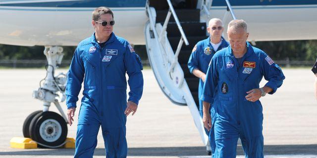 Astronauterna Doug Hurley och Bob Behnken JOE RAEDLE / TT NYHETSBYRÅN