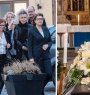 Bilder från begravningen. TT