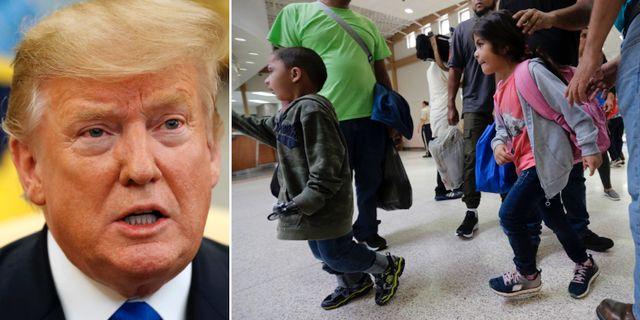Donald Trump/Barn som söker asyl. TT