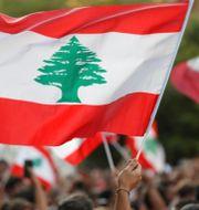 Demonstranter i Libanon. Goran Tomasevic / TT NYHETSBYRÅN