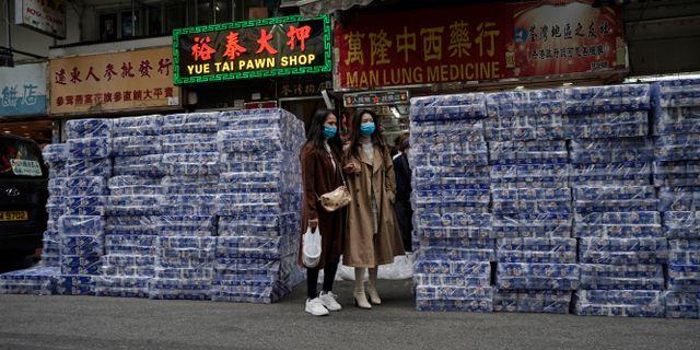 Toalettrullar vid en butik i Hongkong. Kin Cheung / TT NYHETSBYRÅN