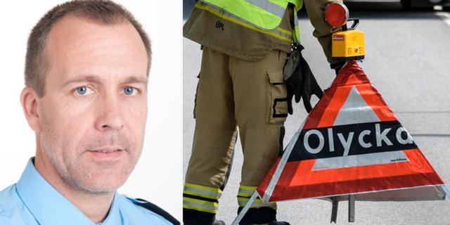 Peter Adlersson, presstalesperson vid polisen region Väst, till vänster.  Polisen / TT