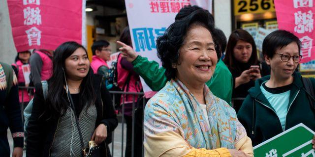 Prodemokraten Anson Chan. PHILIP FONG / AFP
