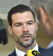 Johan Forssell (M). Claudio Bresciani/TT / TT NYHETSBYRÅN