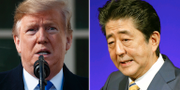 Donald Trump och Shinzo Abe TT