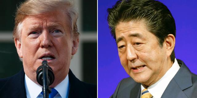 Donald Trump och Shinzo Abe TT