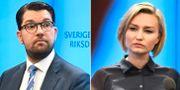 Jimmie Åkesson och Ebba Busch Thor.  TT