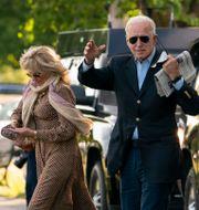 Joe Biden och frun Jill Biden.  Manuel Balce Ceneta / TT NYHETSBYRÅN