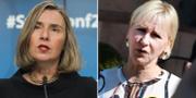 Mogherini (t v), Wallström (t h). TT