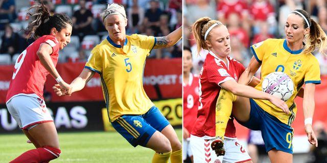 Nilla Fischer och Kosovare Asllani. TT