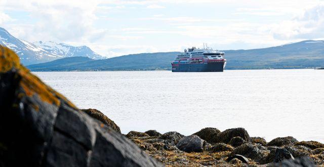 Hurtigrutens fartyg MS Roald Amundsen. Rune Stoltz Bertinussen / TT NYHETSBYRÅN