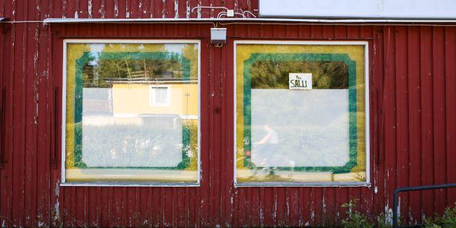 Övergiven lanthandel till salu i Kalix kommun i Norrbotten. Arkivbild. Helena Landstedt / TT / TT NYHETSBYRÅN